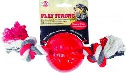 Ethical 54106-7 Play Strong Ruber piłka 3,7' sznur