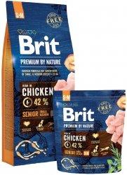 Brit Premium By Nature S+M Senior 15kg
