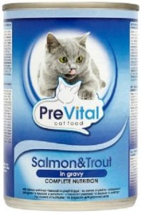 PreVital 2096 Puszka dla kota 415g łosoś pstr sos