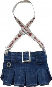 Dolly C109-L Spódniczka z szelkami jeans 31-33cm