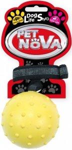 Pet Nova 2370 Piłka aport. 6cm pasek vanilia żółta