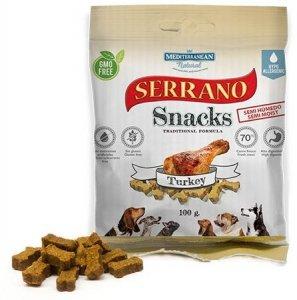 Serrano Snack 1736 Dog 100g Indyk