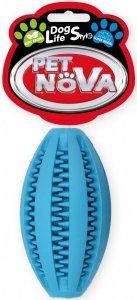 Pet Nova 2288 Piłka superdental Rugby 11cm niebies