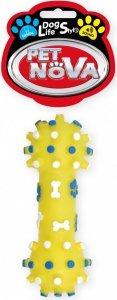 Pet Nova 1304 Hantel z wypustkami 12cm kolor żółty