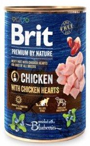 Brit Premium By Nature puszka 400g Chicken&Hearts