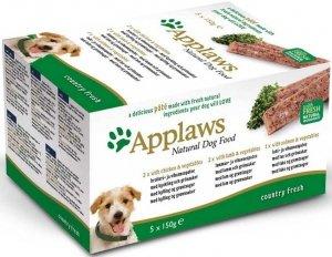 Applaws 6256 Dog Pate 5x150g Chicken, Lamb&Salmon
