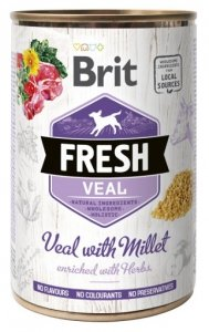 Brit Fresh 3916 Puszka 400g Veal Millet