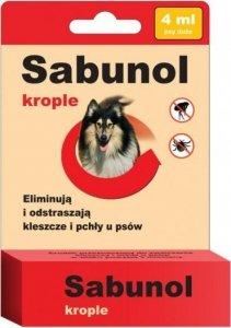 Sabunol 0400 Krople przeciw pchłom i kleszczom 4ml