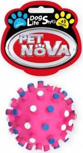 Pet Nova 1342 Piłka jeż z wypustkami 7cm, różowa