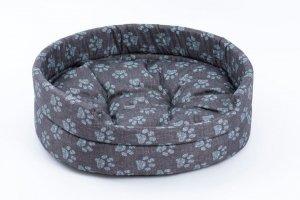 Derma 3010 legowisko z poduszką niebieską łapkę 4