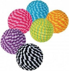 Trixie 4570 Piłki kolorowe ze sznurka 4,5cm 1szt