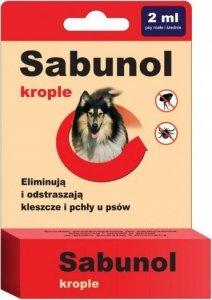 Sabunol 0394 Krople przeciw pchłom i kleszczom 2ml