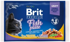 Brit Premium 4x100g Fish Plate saszetki