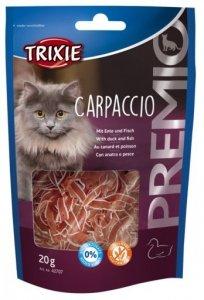 Trixie 42707 Carpaccio Premio kaczka dorsz 20g kot