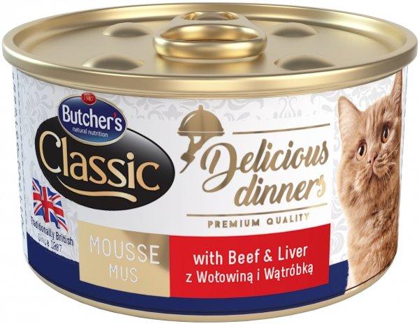 Butchers 1668 Delicious Dinners woł/wątróbka 85g
