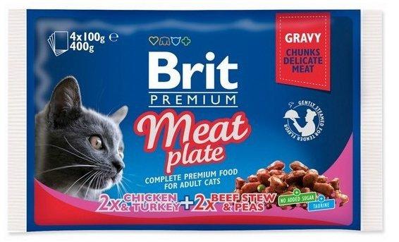 Brit Premium 4x100g Meat Plate saszetki