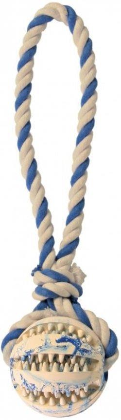 Trixie 3299 Dentafun piłka ze sznurem 7cm