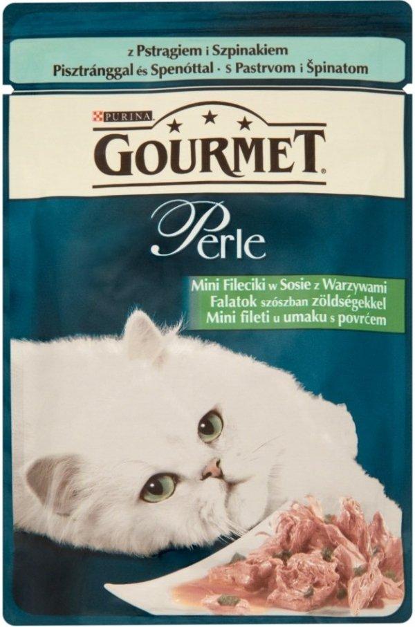 Gourmet Perle 85g Pstrąg szpinak saszetka
