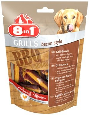 8in1 111818 Przysmak Grills Bacon Style 80g