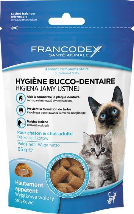 Francodex 170241 przysmak na higiene jamy kot 65g