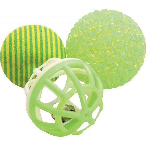 Zolux 580125 Zabawki dla kota 3 piłki różne 4cm