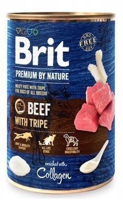 Brit Premium By Nature puszka 400g Beef&Tripes