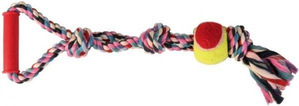 Trixie 3280 Zab.Sznur bawełniany z piłką 50cm