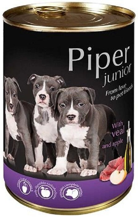 Piper 5635 puszka 400g Junior cielęcina jabłko