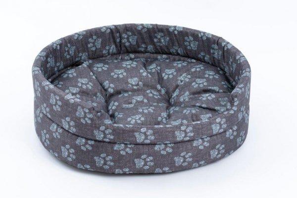 Derma 3003 legowisko z poduszką niebieską łapkę 3