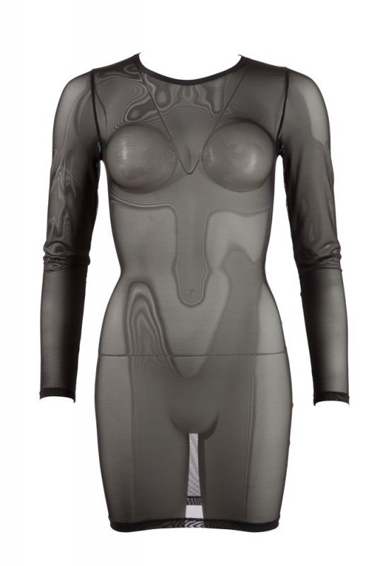 Siateczkowa mini sukienka L