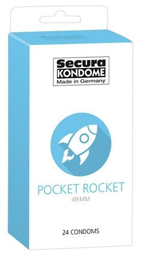 Prezerwatywy Pocket Rocket wąskie 49 mm 24szt. Secura