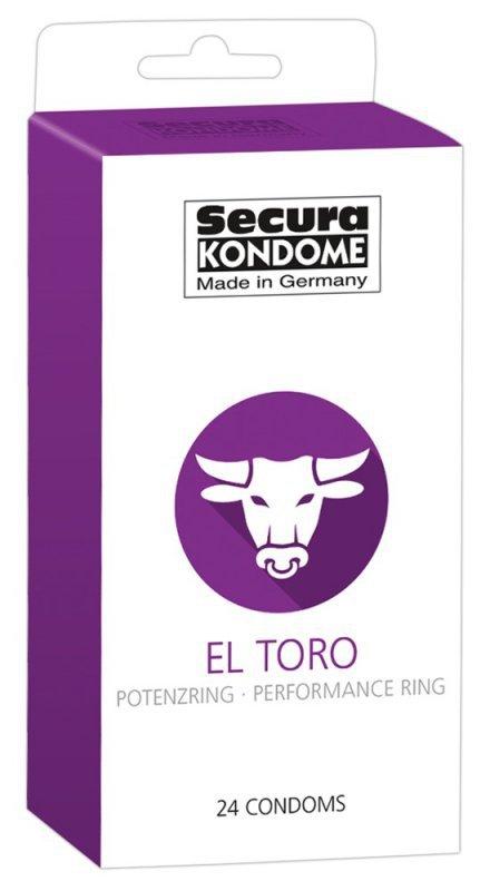 Prezerwatywy El Toro z pierścieniem erekcyjnym 24 szt. Secura