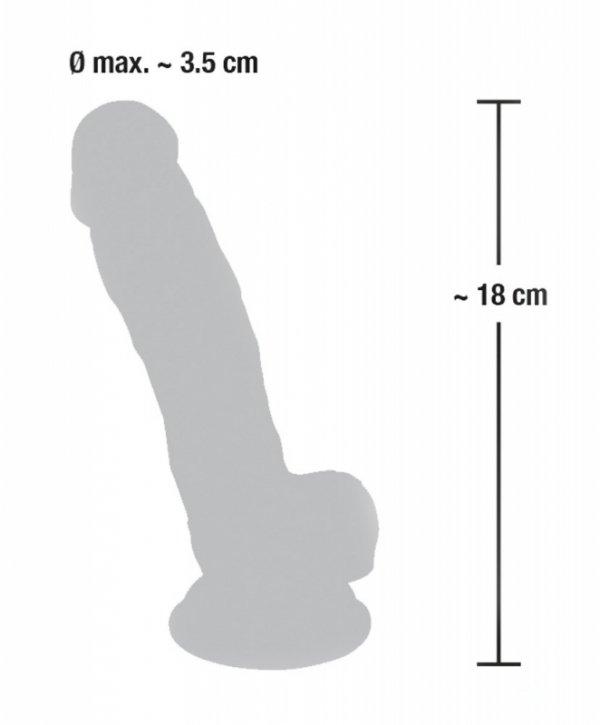 Dildo silikonowe medyczne z przyssawką 18 cm