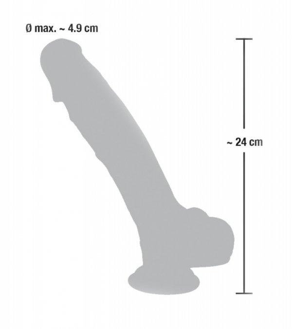 Dildo silikonowe medyczne z przyssawką 24 cm