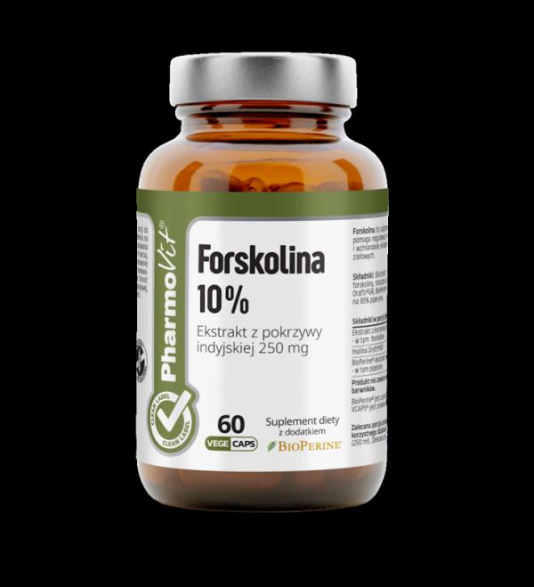 Forskolina 10% Ekstrakt z pokrzywy indyjskiej 250 mg - 60 kapsułek Vcaps® PharmoVit
