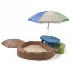 STEP2 Piaskownica ze stolikiem i parasolem