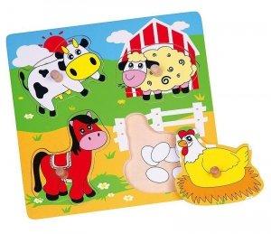 Viga 59562 Puzzle niespodzianka - farma