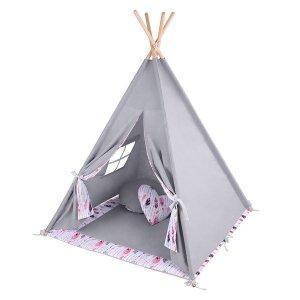 Lulando Namiot TIPI szary + piórka