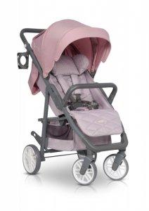 EURO-CART Wózek dziecięcy FLEX Powder Pink