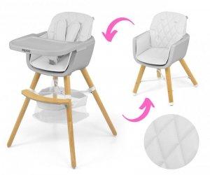 MILLY MALLY Krzesełko do karmienia 2 w 1 Espoo White
