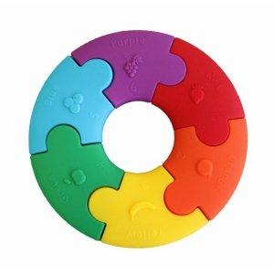 Pierwsze puzzle sensoryczne, tęczowe kółko, Jellystone Designs