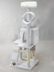 Drapak, domek dla kota 132cm Pethaus biały DR-203