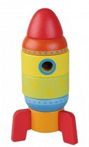 Zabawka drewniana wieża rakieta