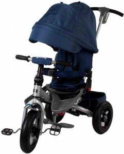 Rowerek trójkołowy na pomp. kołach - niebieski