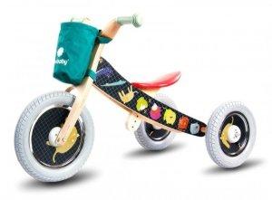 Rowerek biegowy drewniany 2w1 Twist Safari by Mamala.leo Black