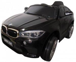 BMW X6M czarny Miękkie koła Eva, miękki fotelik Licencja
