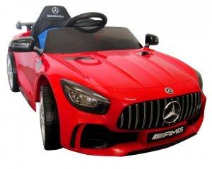 Mercedes GTR czerwony Miękkie koła Eva, miękki fotelik Licencja