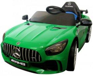Mercedes GTR Zielony Miękkie koła Eva, miękki fotelik Licencja