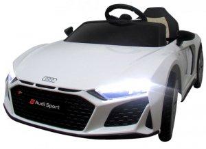 AUDI R8 Sport BIAŁY Auto na akumulator EVA Skóra pilot