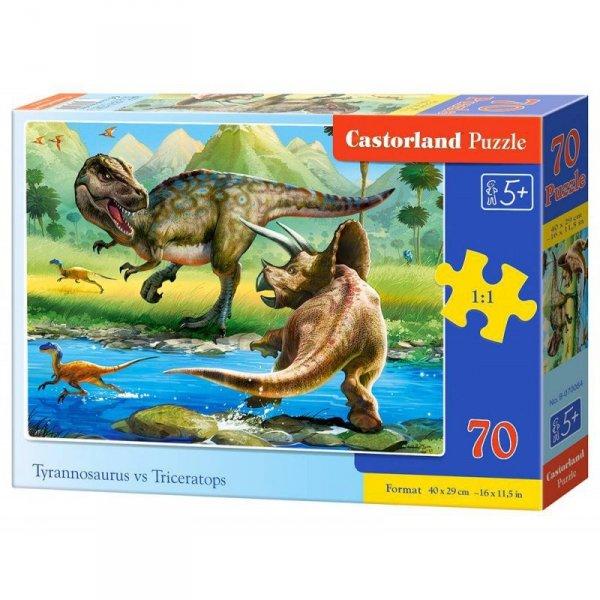 Puzzle 70 tyranosaur vs tricer